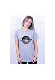 Camiseta Bilhan Corte A Fio Let'S Gp Skateaboard Cinza