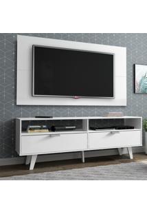 Rack Madesa Oslo E Painel Para Tv Até 55 Polegadas 2 Portas Branco