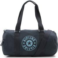 31298e166 Bolsa Kipling Silk Logo Duffle Onalo Sky Azul Marinho