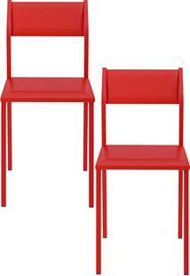 Kit Com 2 Cadeiras Sofia Vermelha - Carraro