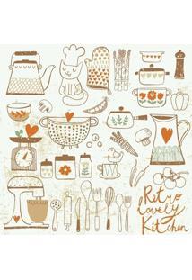 Papel De Parede Adesivo Vintage Kitchen (2,50M X 0,58M)