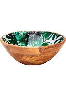 Saladeira Palmeira Verde 30X11 Cm