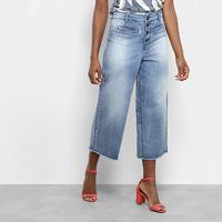 e09644f39 Calça Jeans Pantacourt Maria Filó Feminina - Feminino-Jeans
