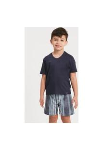 Pijama Recco Infantil De Viscose Stretch E Malha Touch