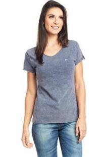 Camiseta Feminina Bossa - Logo Bossa - Feminino-Azul
