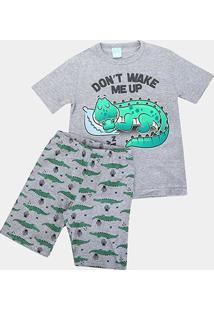 Pijama Infantil Kyly Jacaré Fluorescente Masculino - Masculino