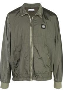 Stone Island Water-Resistant Logo Patch Jacket - Verde
