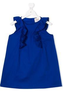 Mariuccia Milano Kids Vestido Sem Mangas Com Acabamento De Babados - Azul