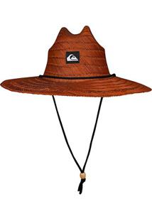 Chapéu De Palha Quiksilver Pierside - Masculino-Marrom Escuro