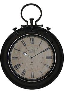 Relógio De Parede Jame Preto Oldway