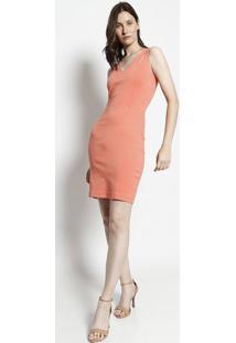 Vestido Com Recortes Vazados - Coralmoiselle