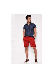 Bermuda Jeans Express Teodoro Vermelha Vermelho