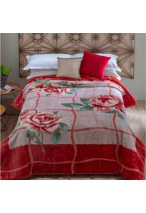 Cobertor Casal Kyor Plus Orvieto 1 Peça Microfibra Jolitex Tijolo