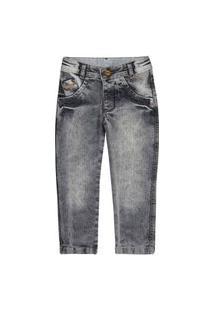 Calça Infantil Look Jeans Skinny Cinza