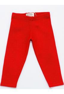 Calça Mini Lord - Samuel Menino - Vermelho