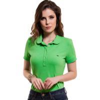 Camisa Pólo Feminina Verde Principessa Ariel 19467e32cc57b