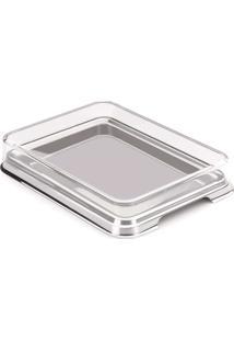 Porta Frios Retangular Vision - Forma Inox Inox/Transparente