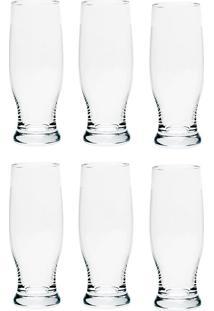 Conjunto 6 Copos Altos De Cristal 380 Ml Sasha - Bohemia - Transparente