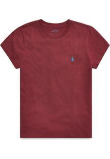 Camiseta Polo Ralph Lauren Logo Vinho - Kanui