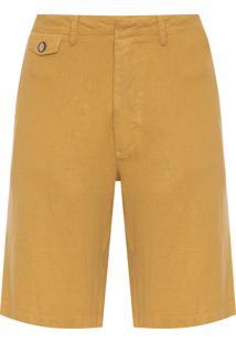 Bermuda Masculina Pf Casual Linho - Amarelo