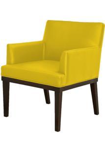 Poltrona Decorativa Lyam Decor Beatriz Corino Amarelo