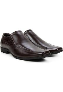 Sapato Couro Social Ferracini Jop Masculino - Masculino-Café