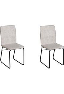 Conjunto Com 2 Cadeiras Hawke Palha E Preto