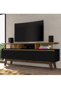 Rack Para Tv Até 60 Polegadas 3 Portas Cinamomo/Preto Fosco - Bechara