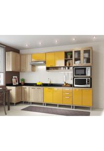 Cozinha Completa Laciara 15 Pt 3 Gv Argila E Amarelo