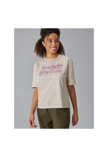 Amaro Feminino T-Shirt Send Me Flowers, Areia