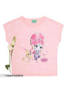 Blusa Com Desenho Menina- Rosa & Amarelabenetton
