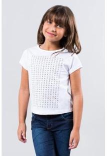 Camiseta Infantil Quem Procura Reserva Mini Feminina - Feminino-Branco