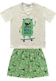 Conjunto Pijama Monster Cinza