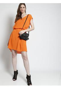 Vestido Texturizado Com Amarração - Laranjafolha