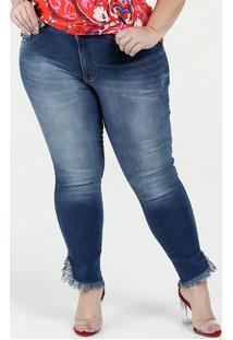 90630377d Calça Feminina Jeans Skinny Cintura Alta Plus Size Biotipo