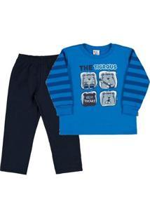 Conjunto Primeiros Passos Menino - Masculino-Azul