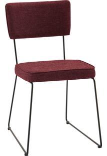 Cadeira Roma Aço Tecido Daf Marsala