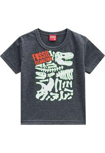 Camiseta Infantil Kyly Fossil Brilha No Escuro Masculina - Masculino