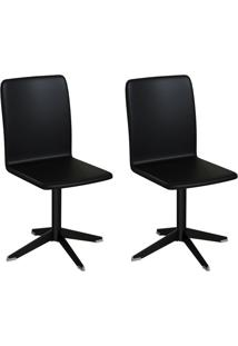 Conjunto Com 2 Cadeiras Raglan Preto