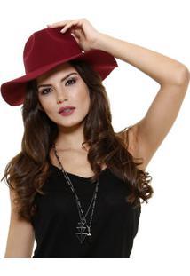 Chapéu Feminino De Camurça Marisa