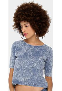 Camiseta Volcom Circle Stone Ii Feminina - Feminino-Marinho