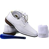 ce1230fbb Kit Masculino Sapato+Cinto+Meia+Calçadeira Doctor Shoes - Masculino-Branco