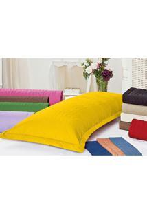 Porta Travesseiro Xuxão 180 Fios Amarelo