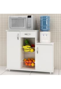 Armário De Cozinha Para Forno Com Fruteira 2 Portas 1 Gaveta Diva Branco New - Notavel