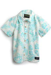 Camisa Ever.Be Menino Folhagem Off-White