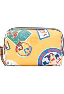 Tory Burch Necessaire Com Estampa Perry Travel - Amarelo
