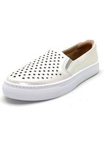 Slipper Slip On Confort Branco Dani K