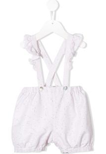 Aletta Newborn Trousers With Suspenders - Branco