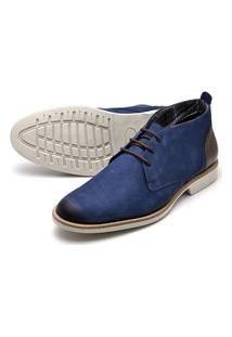 Sapato Social Oxford Reta Oposta - 38 Azul