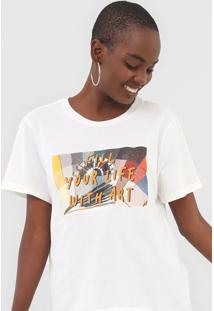 Camiseta Cantão Fill Your Life Off-White - Kanui